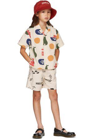 Jellymallow Short sleeves - Kids Beige Painting Big Pocket Short Sleeve Shirt