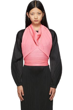 Pleats Please Issey Miyake Pink Sprout Scarf