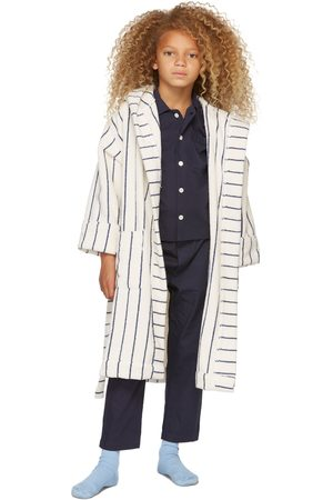 Tekla Kids Women Nightdresses & Shirts - SSENSE Exclusive Kids Navy Sleepwear Set