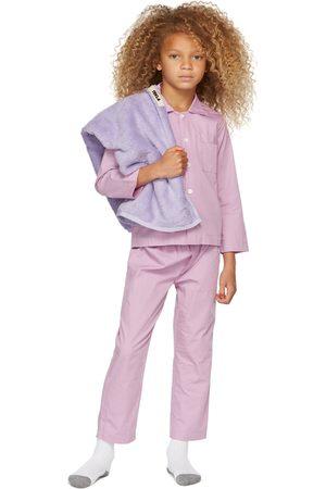 Tekla Kids SSENSE Exclusive Kids Purple Sleepwear Set