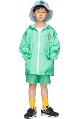 Jellymallow Kids Green Board Hoodie Rain Coat