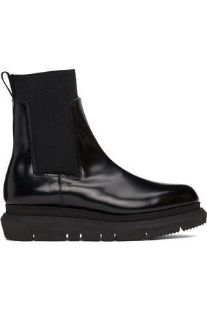 SACAI Men Chelsea Boots - Black Side Gore Chelsea Boots
