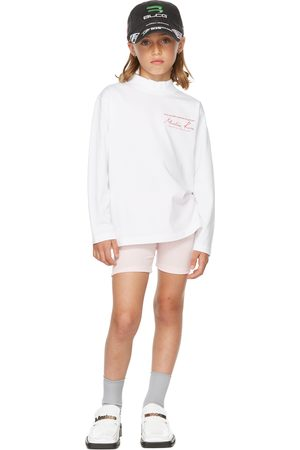 MARTINE ROSE Long Sleeve - SSENSE Exclusive Kids White Funnel Neck Long Sleeve T-Shirt