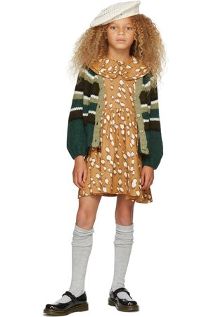 Molo Cardigans - Kids Green Striped Gail Cardigan