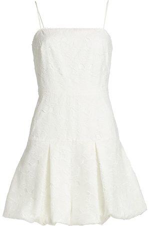 Ml Monique Lhuillier Organza Lace Bubble Mini Dress