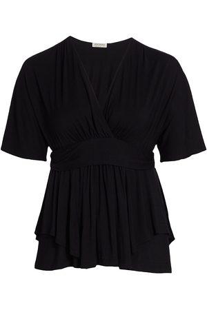 Kiyonna Promenade Layered Short Sleeve Top