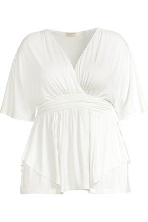 Kiyonna Women Short sleeves - Promenade Layered Short Sleeve Top