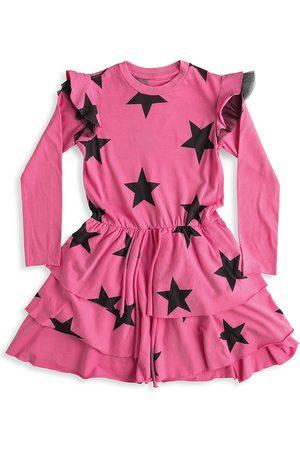 Nununu Little Girl's & Girl's Star Multi Layered Dress
