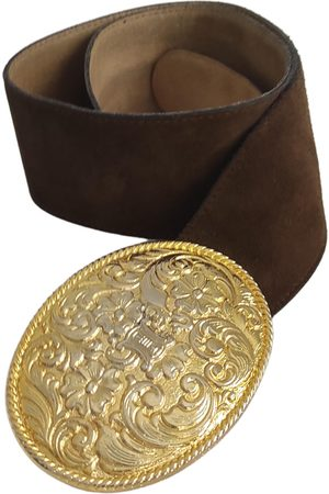 Céline Triomphe leather belt