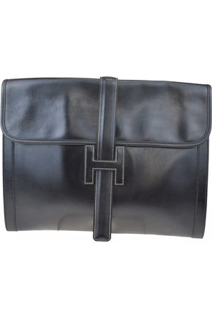 Hermès Jige leather clutch bag