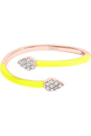 DJULA Fluo yellow snake enamel ring