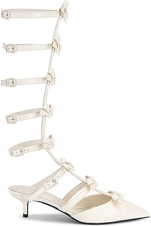 VALENTINO GARAVANI French Bows Ankle Strap Sandals in White