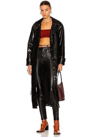 JONATHAN SIMKHAI Paulette Vegan Leather Trench Coat in