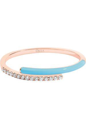 DJULA Fluo blue enamel ring