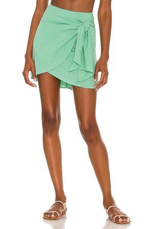 Indah Cassiel Sarong Skirt in Mint.