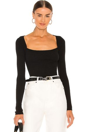 Lovers + Friends Tie Back Fitted Rib Sweater in .