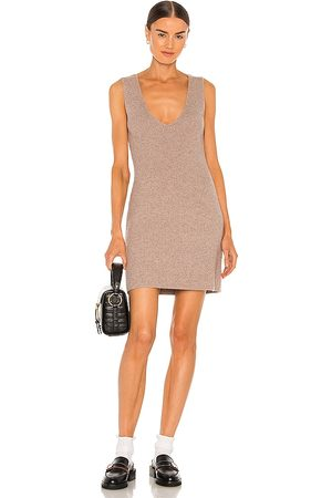 Weekend Stories Evelyn Knit Dress in Taupe.