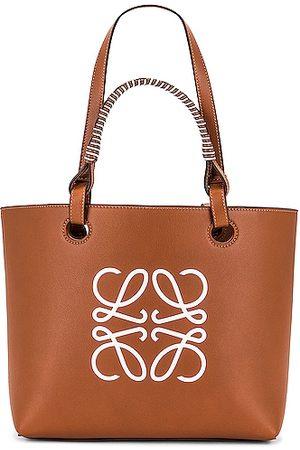 Loewe Anagram Small Tote Bag in Tan