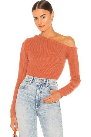 superdown Ravie One Shoulder Sweater in Rust.