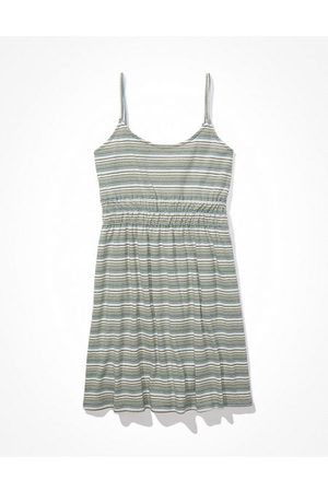 American Eagle Outfitters Striped Fit Flare Mini Dress Women's XXS