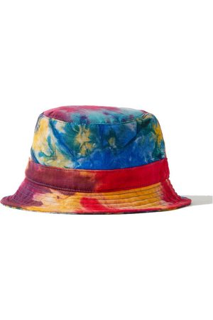 Gabriela Hearst Tie-dyed cashmere and silk-blend bucket hat