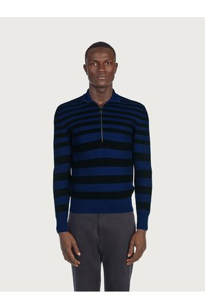 Salvatore Ferragamo Men Sweater with polo shirt collar