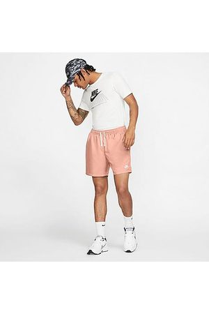 Nike Men's Sportswear Flow Woven Shorts in Pink/Arctic Size Small 100% Polyester/Twill