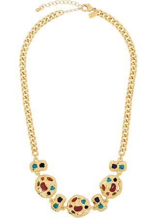Kenneth Jay Lane Crystal-embellished gold-tone necklace
