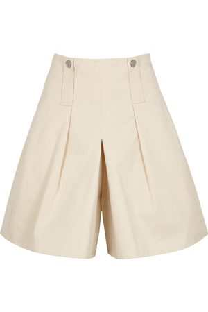 Isabel Marant Dicochia ecru denim shorts