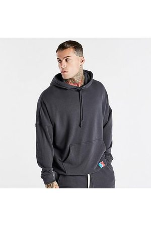 Siksilk Men's X Space Jam Oversized Hoodie in Grey/Grey Size Small Cotton/Polyester/Silk