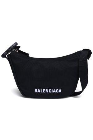Balenciaga Wheel Sling Logo-embroidered Shell Shoulder Bag - Womens
