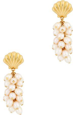Kenneth Jay Lane Women Earrings - Shell faux pearl and gold-tone drop earrings