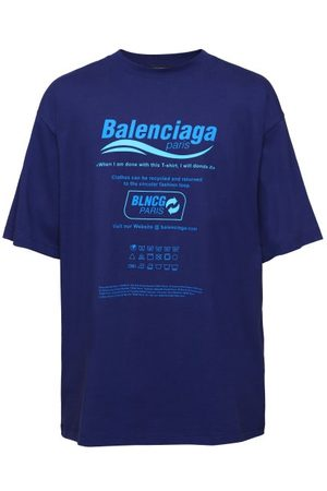 Balenciaga Recycle-print Cotton-jersey T-shirt - Mens