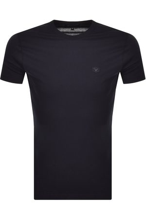 Armani Emporio Short Sleeved Logo T Shirt Navy