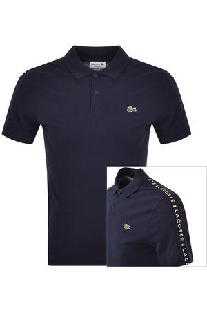 Lacoste Men Polo Shirts - Taped Logo Polo T Shirt Navy