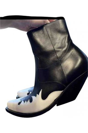 Vetements Leather western boots