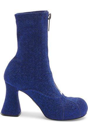 Stella McCartney Groove Lurex Flared Heel Boots