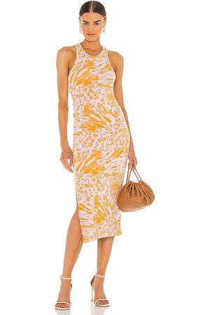 AllSaints Tali Perpetua Dress in ,Orange.