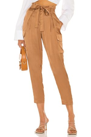 L'Agence Roxy Paperbag Cargo Pant in Tan.