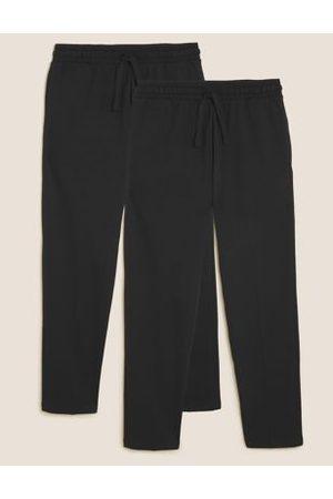 Marks & Spencer 2 Pack Cotton Straight Leg Joggers