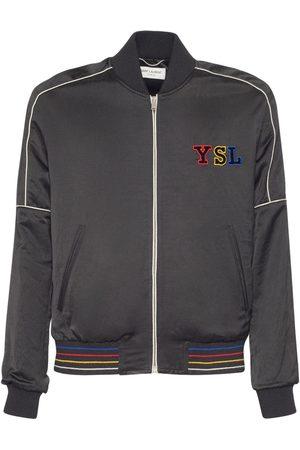 Saint Laurent Men Fleece Jackets - Teddy Jacket W/ Logo Patch