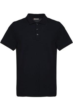 Moncler Men Polo Shirts - Cotton Piquet Polo Shirt