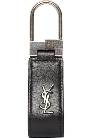 Saint Laurent Men Rings - Ysl Leather Key Ring