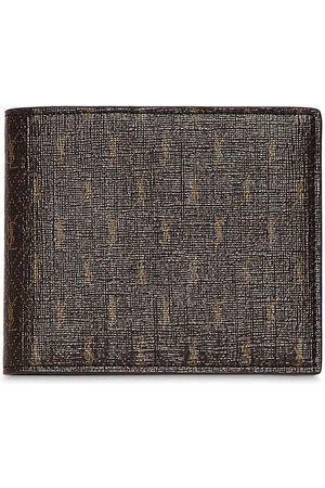 Saint Laurent Men Wallets - Allover Monogram Canvas Wallet