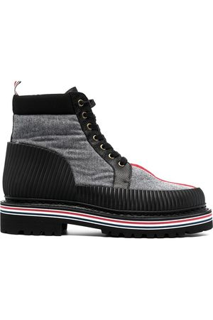 Thom Browne Men Ankle Boots - All Terrain lace-up ankle boots - Grey