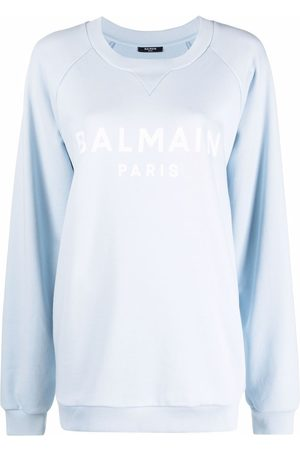 Balmain Flocked logo-print sweatshirt