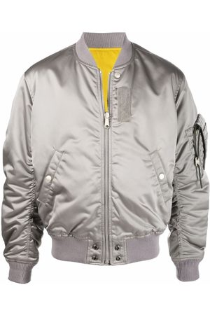 Diesel Men Bomber Jackets - Reversible bomber jacket - Grey