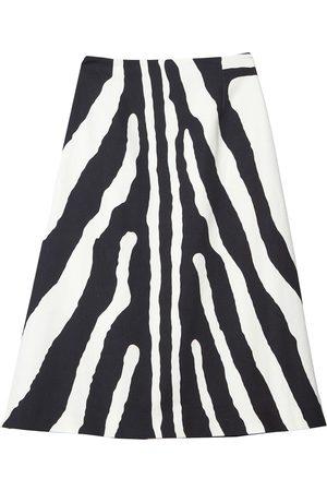 Carolina Herrera Women Printed Skirts - Zebra-print A-line skirt