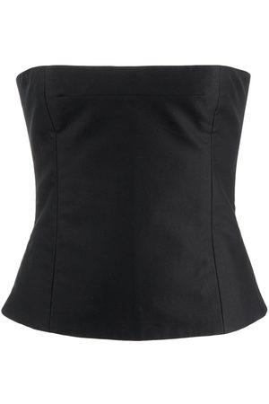 Khaite Women Strapless Tops - Percy strapless cotton top
