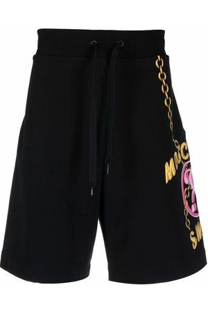 Moschino Men Sports Shorts - Side logo-print shorts